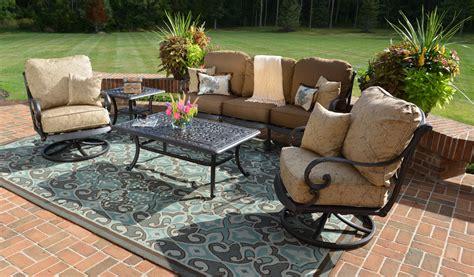 conversation set patio furniture amalia 5 luxury cast aluminum patio furniture