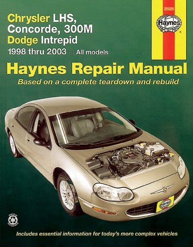 how to download repair manuals 2001 chrysler concorde user handbook chrysler lhs concorde 300m dodge intrepid 1998 2003 haynes repair manuals pdfsr com