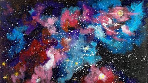 acrylic paint tutorial galaxy galaxy painting acrylic www pixshark images