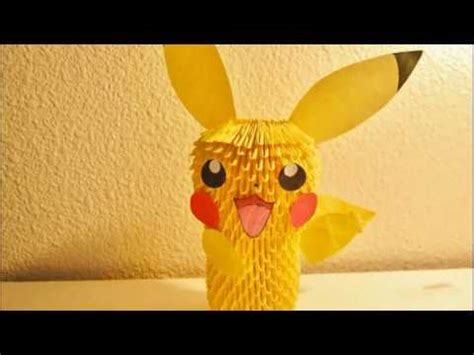 how to make a 3d origami pikachu pikachu 3d origami tutorial