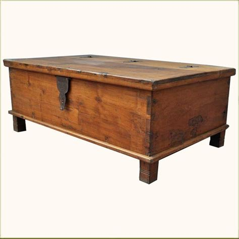 coffee chest table appalachian rustic teak hinged top coffee table chest