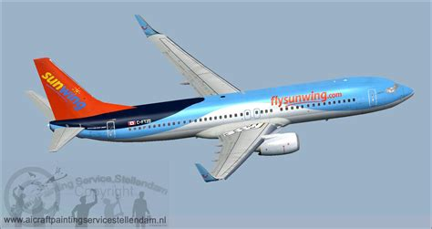 Engine Check Light by Sunwing Airlines C Ftzd Boeing 737 800w C Ftzd For Fsx