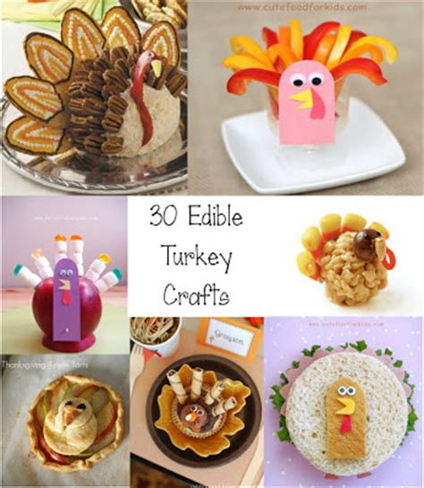 easy edible crafts for food for 30 edible turkey craft ideas for