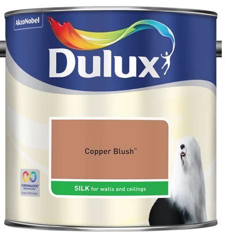 dulux paint chalk blush 2 dulux silk emulsion paint copper blush 2 5l at wilko