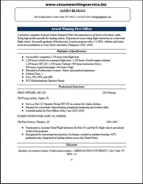 first officer resume sample resume writing service