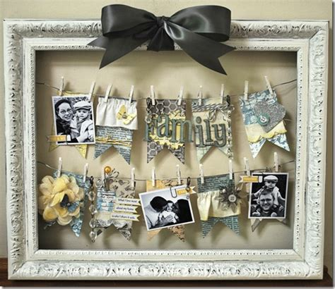 picture frame crafts for 38 easy diy photo and picture frame crafts