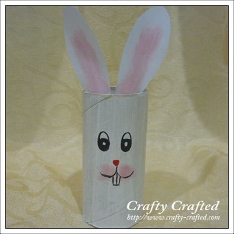 bunny toilet paper roll craft crafty crafted 187 archive crafts for children