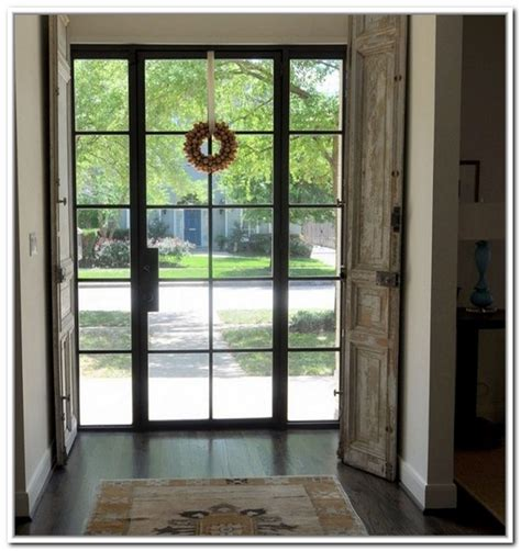 steel glass panel exterior door metal glass doors exterior front doors and entryways 236