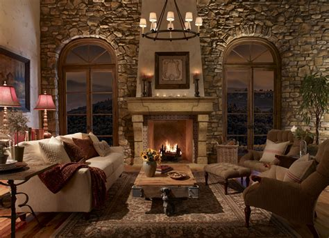 Home Interiors Wall Decor 25 interior stone fireplace designs