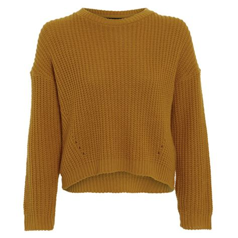 knitted jumper damned delux s cesca knitted jumper mustard gold