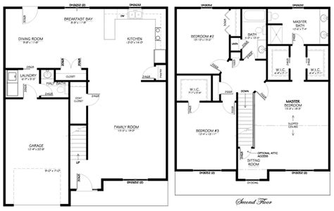 2 story open floor plans spacious 2 story home with large master suite walk in