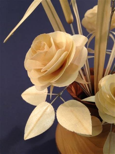 rosary made from roses wooden flowers 3 cutting the petals by ronbrush