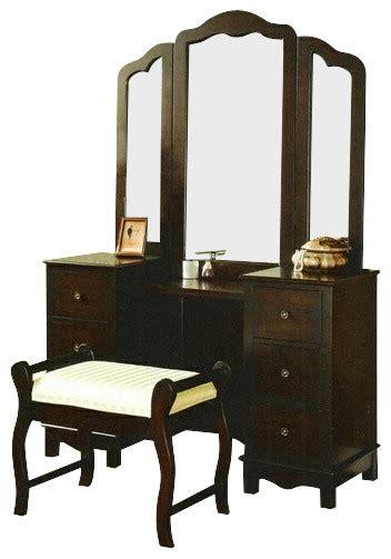 bedroom vanity furniture 3 pc espresso finish wood large size bedroom make up