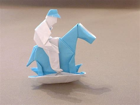 how to make an origami boy origami rocking horses gilad s origami page