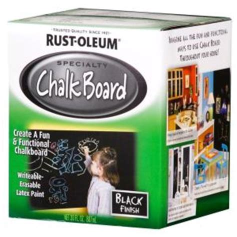 chalkboard paint at home depot rust oleum specialty 30 oz flat black chalkboard paint
