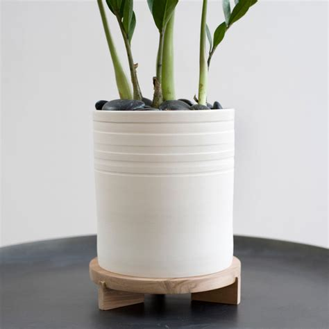 striped planter tripod stand modern indoor pots and