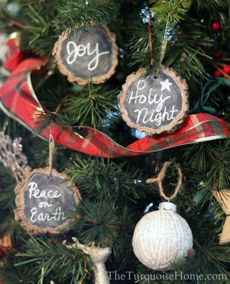 diy chalkboard ornaments chalkboard wood slice ornaments is an easy diy project