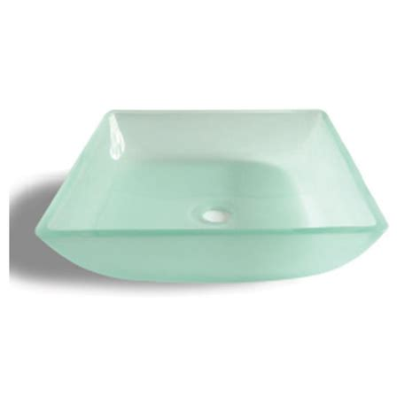 square glass 132f square glass basin frosted white bacera
