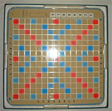 spinning scrabble board scrabble deluxe 1977 edition plastic rotating