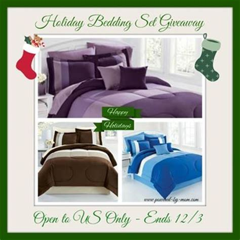 brylane home bedding sets brylane home bedding set for the holidays giveaway