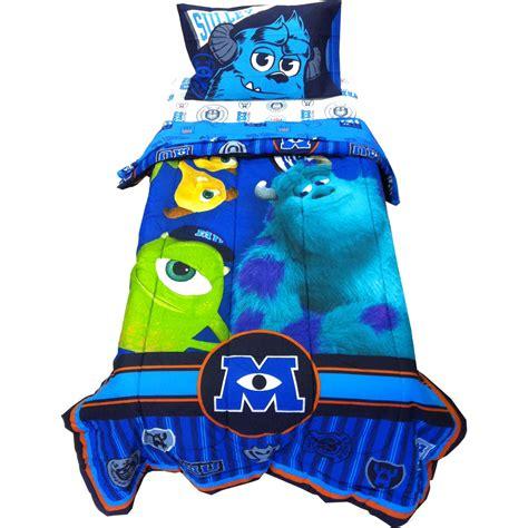 monsters inc bedding set 4pc disney monsters inc bedding set scare u mike