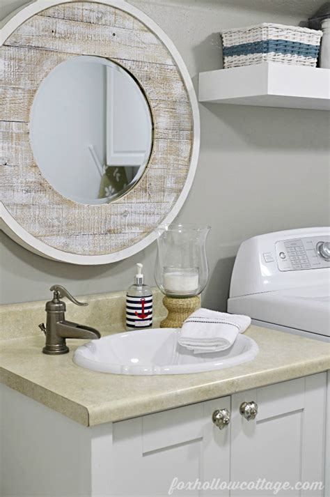 Bathroom Painting Ideas For Small Bathrooms nod to nautical bathroom makeover reveal fox hollow cottage
