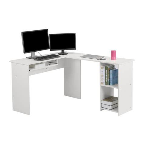 white corner workstation desk langria wood l shape corner computer desk pc table