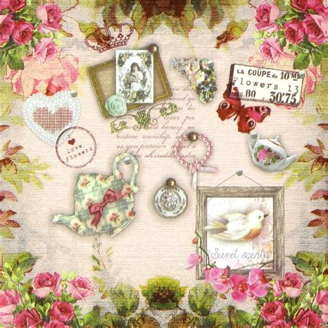 paper decoupage 4x vintage lucille paper napkins for decoupage craft ebay