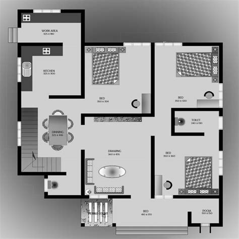 3 Bed 2 Bath House Plans 1500 square feet 3 bedroom low budget home design and plan