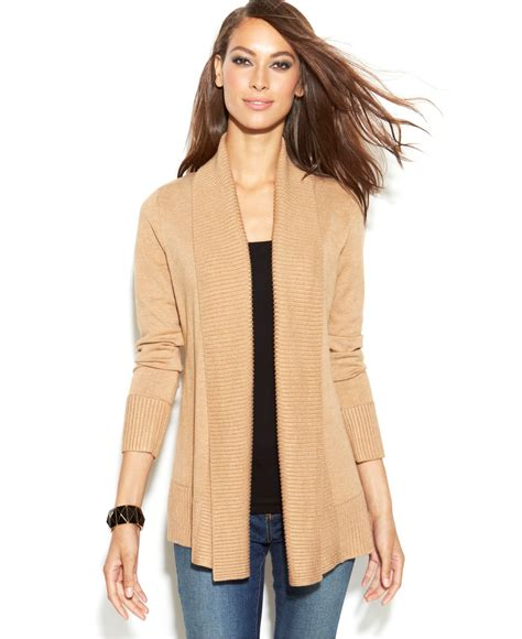 open knit cardigan inc international concepts ribbed knit open front cardigan