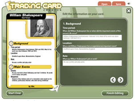 make your own trading cards free trading card creator readwritethink