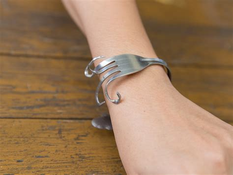 how to make fork and spoon jewelry how to make a fork bracelet 10 steps with pictures