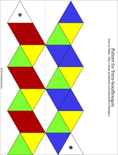hexaflexagon origami hexa hexaflexagon craft project patterns and origami