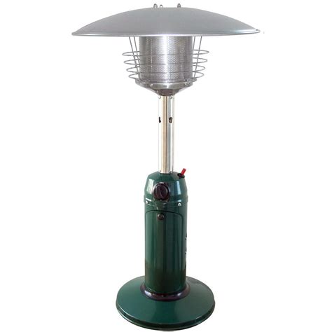 tabletop patio heaters garden radiance 11 000 btu green tabletop propane gas patio heater gs3000gn the home depot
