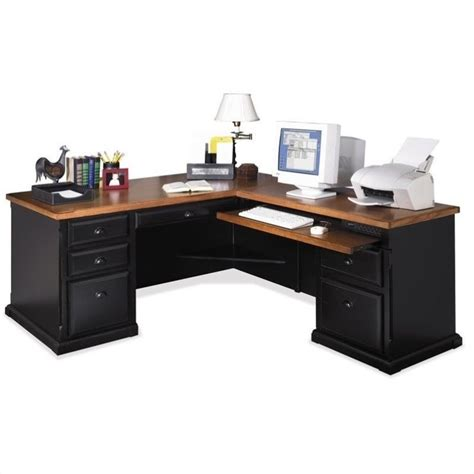 executive computer desk for home computer desk home office workstation rhf l shaped