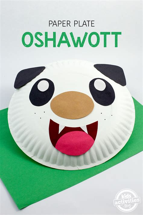 how to make craft with paper plates paper plate oshawott craft