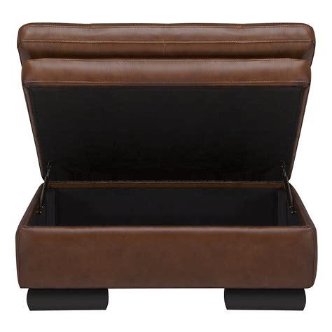 brown leather ottoman storage trevor md brown leather storage ottoman