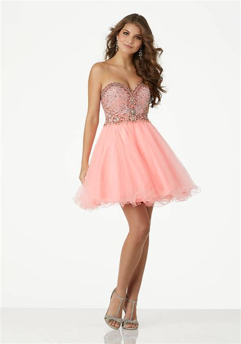 beaded homecoming dresses beaded tulle homecoming dress with strapless sweetheart