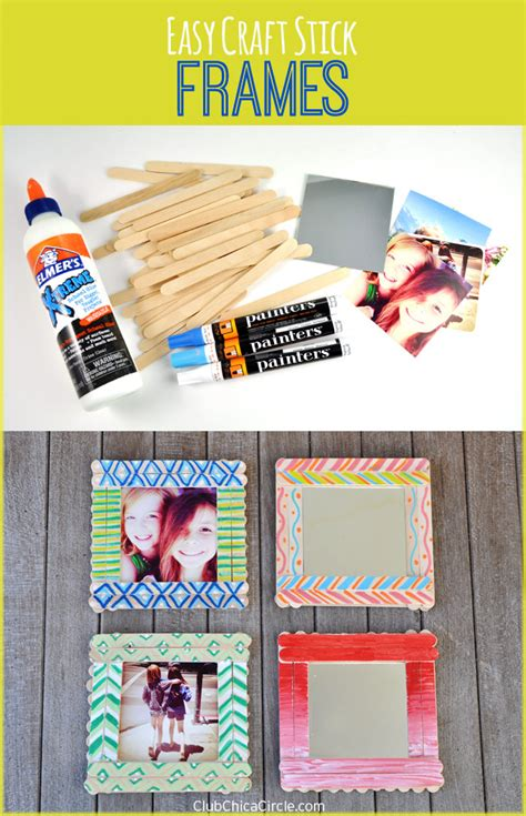 craft stick photo frames diy