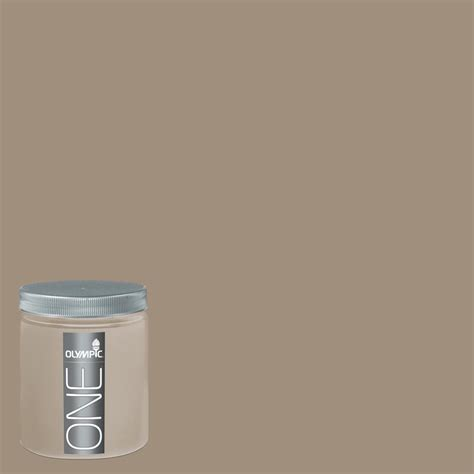 paint colors lowes interior shop olympic 8 oz oyster shell interior satin paint sle