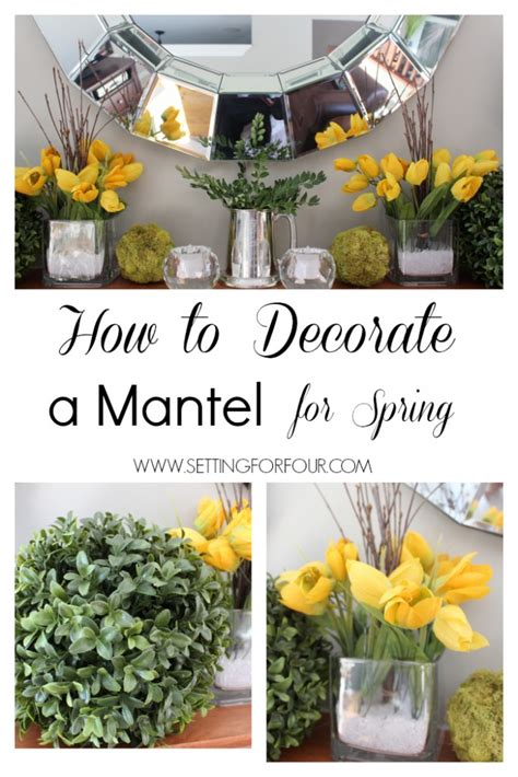 decorating a mantel for how to decorate a mantle for setting for four