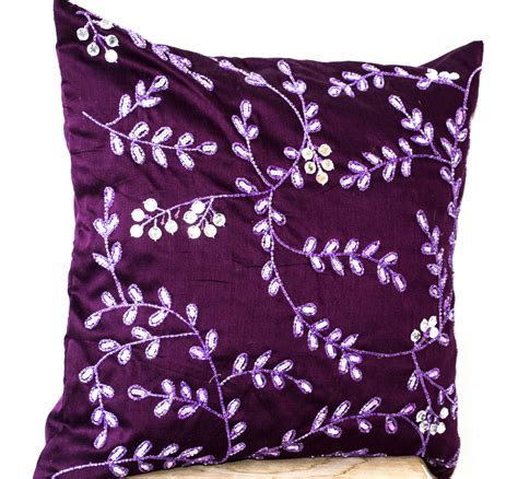 bead pillow radiant orchid throw pillows bead sequin detail leaves