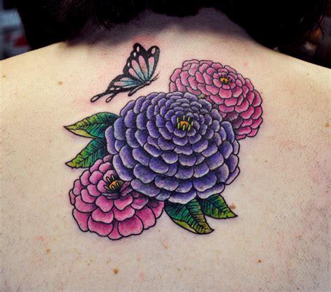 rubber sts flowers zinnia flower tattoos