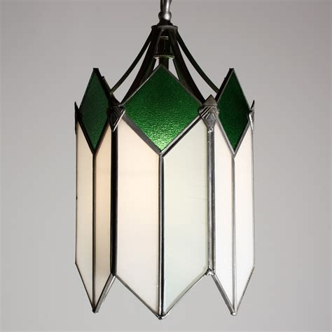 original lights marvelous deco pendant light with original stained