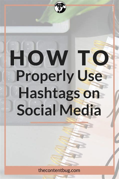 how to properly use how to properly use hashtags on social media the content bug