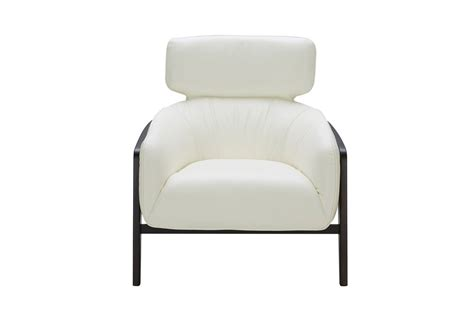 White Leather Accent Chair by Modern White Leather Accent Chair With Wood Legs