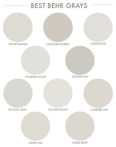 behr paint color chart gray favorite grays from the hardware store living room