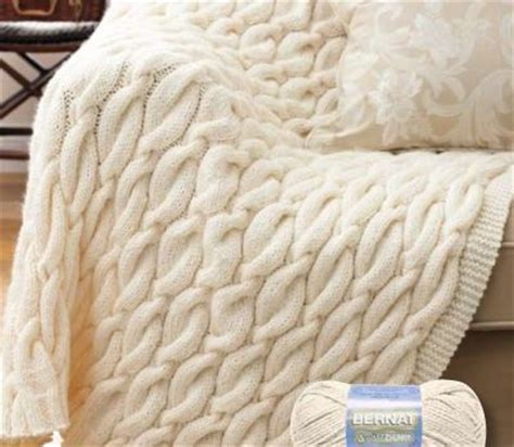 chunky cable knit blanket pattern crochet cable afghan knit pattern