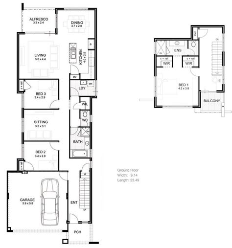 floor plans for narrow lots house plans narrow lot luxury homes floor plans