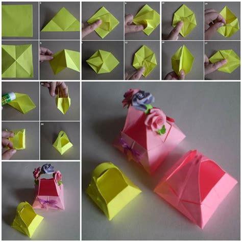 origami paper basket diy origami paper basket